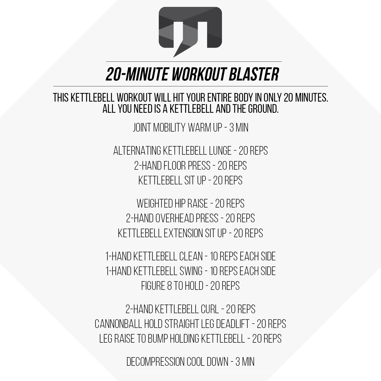 20 Minute Full Body Kettlebell Shred: 20-Minute Kettlebell Workout Blaster