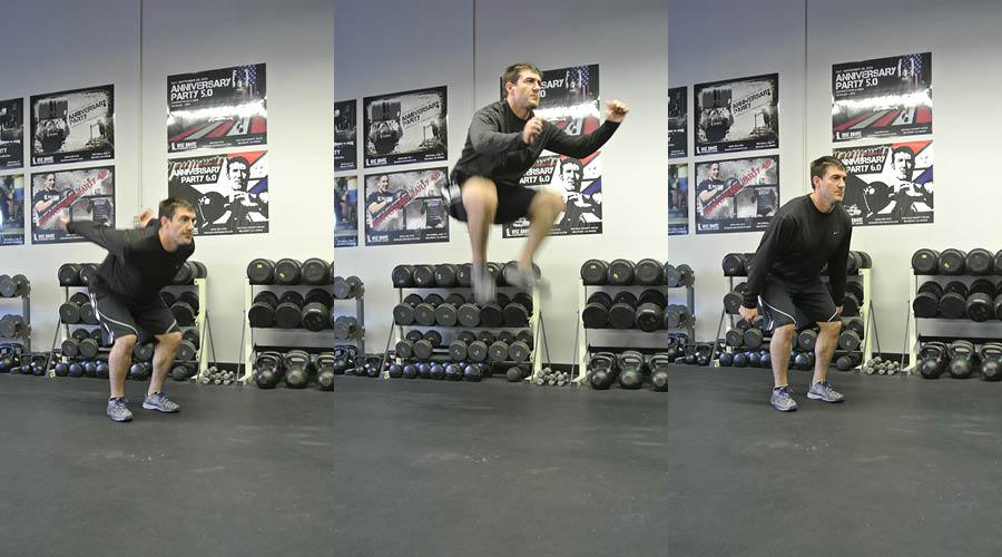 Plyometric Exercise: Knee Tuck Jumps