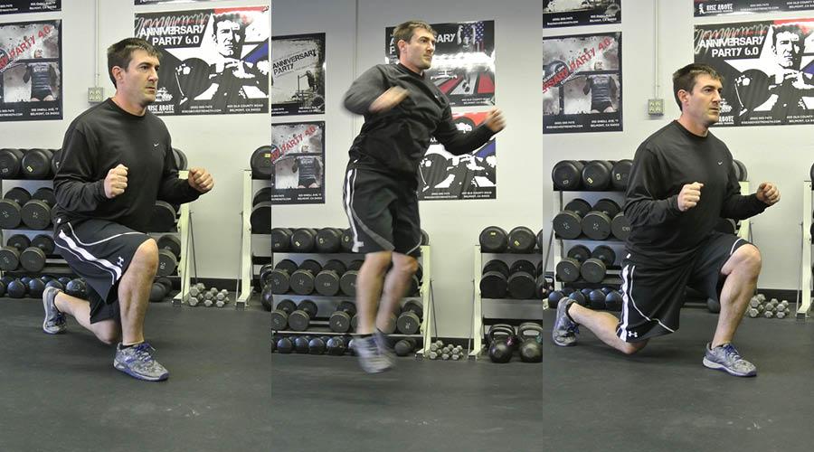 Plyometric Exercise: Alternating Lunge Jumps