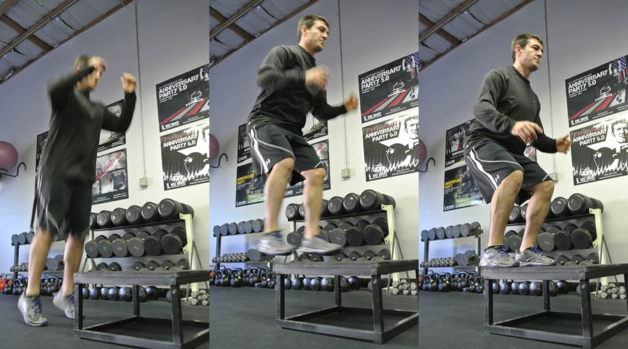 Plyometric Exercise: Low Box On/Off Jumps