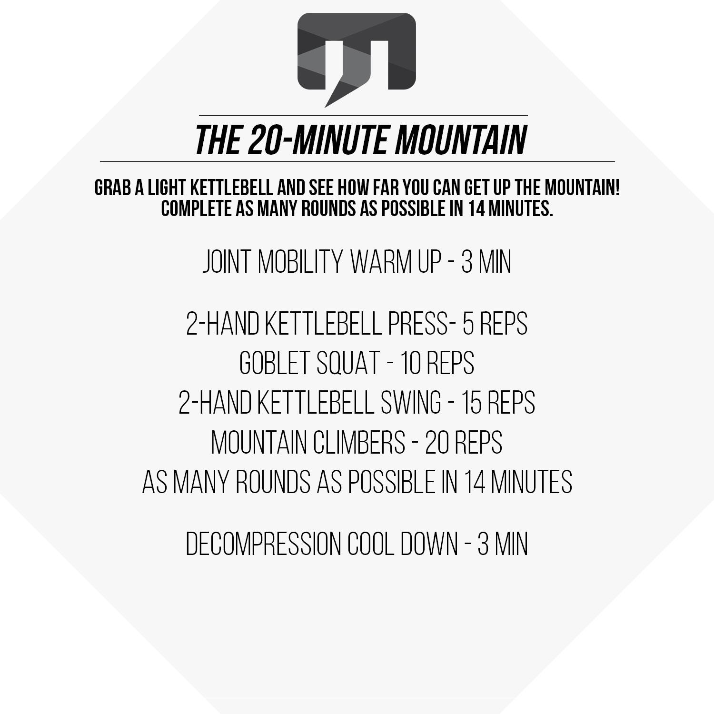 20 Minute Double Kettlebell Workout: 20-Minute Mountain Kettlebell Workout