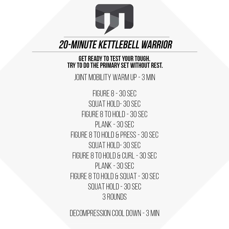 20 Minute Double Kettlebell Workout: 20-Minute Kettlebell Warrior Workout